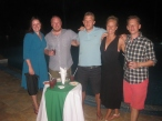 De fem professionelle drankere og hasardspillere...
