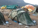 ...med frost på teltet